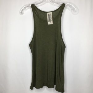 We The Free Olive Green Racerback Swing Tank Top